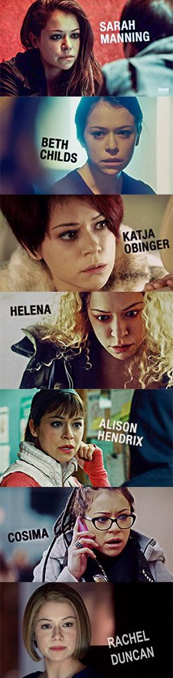 Orphan Black. Sometimes I forget One actress (Tatiana Maslany) plays ALL of these characters.