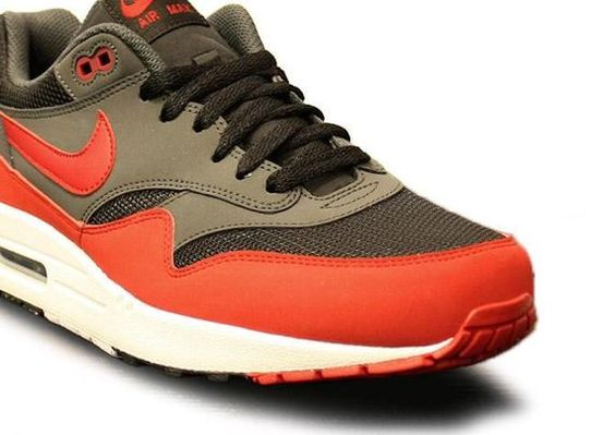 Nike Air Max 1 – Grey / Red / White. I'm craving a Starbucks Pumpkin Spice Latte now.