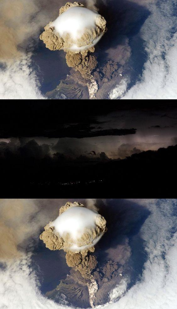 eruption, wallpaper, volcano, sarychev, background, wallpapers, cool, desktop