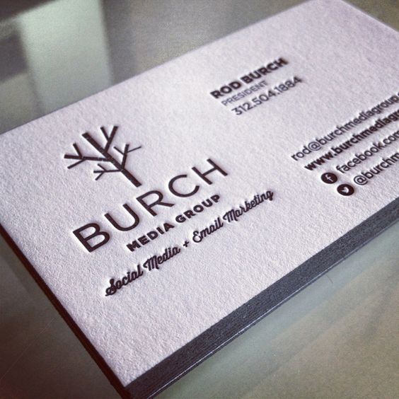 Burch Media Group Business Cards. Copyright 2012. Miaso Design. #letterpress #cards #design #miasodesign