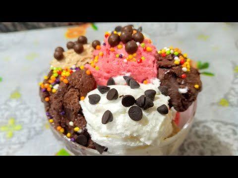 الايس كريم الاقتصادى بأربع نكهات مختلفة وبكمية كبيرة وطعم احلى من الجاهز وتحدى من سهير فى المطبخ Youtube In 2020 Food Breakfast Cereal