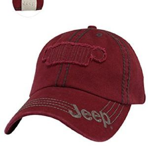 Raw Edge Red Jeep Grille Hat