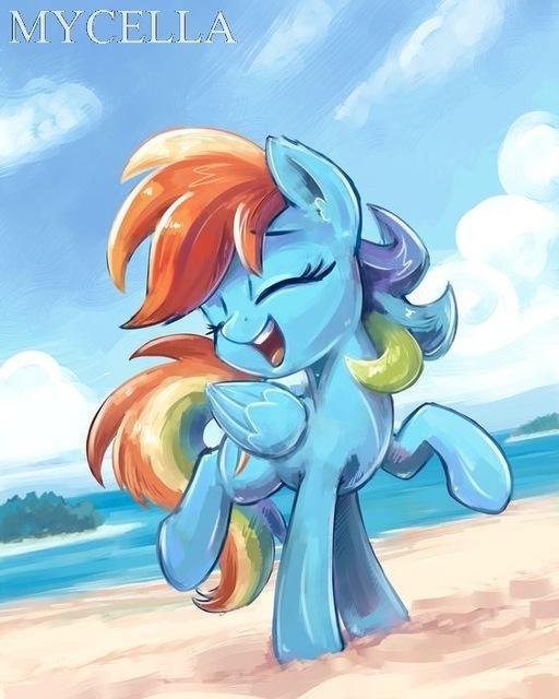 5D Diamond Painting Rainbow Dash Pony Kit