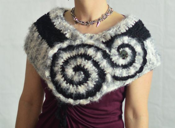 finished a new style https://www.etsy.com/listing/204484075/elegant-striped-spiral-scarf-sage-and