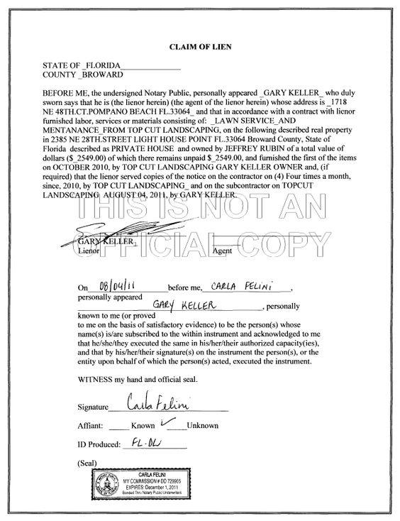 Lien against Jeff Rubin Jeffrey Brett Rubin Pinterest - example of expense report