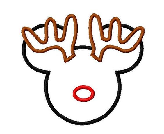Character Boy Reindeer Applique Embroidery by OMAdigitizing