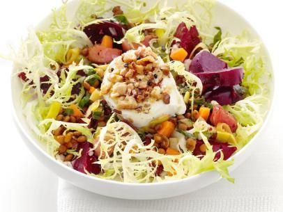 Warm Beet and Lentil Salad with Goat Cheese #MyPlate #Legumes #Protein #Veggies: