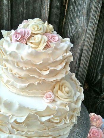 Beautiful Ruffle Cake