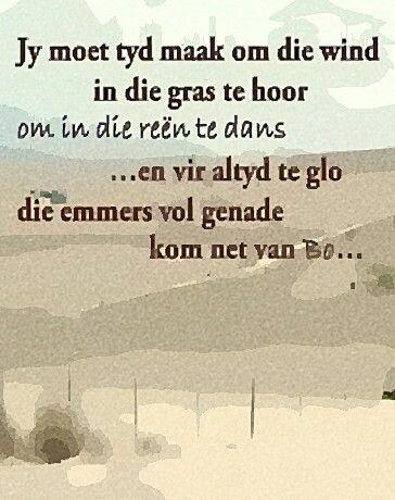 Maak tyd...& glo genade kom net van Bo... #Afrikaans #Rules2LiveBy #Grace…