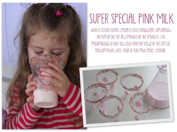 sparkly pink milk for kids