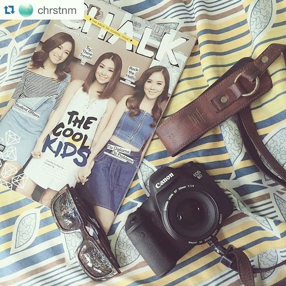 Shoutout to @chrstnm  with her Pro Strap Lux Brown   #chalkmagazine #spotted #camerastrap #Canon DSLR