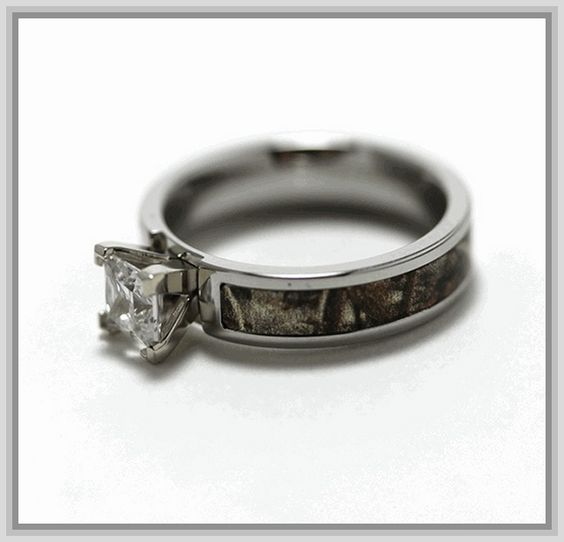 Camo Wedding Rings For Him And Her Camo Engagement Rings For Her Camo Wed