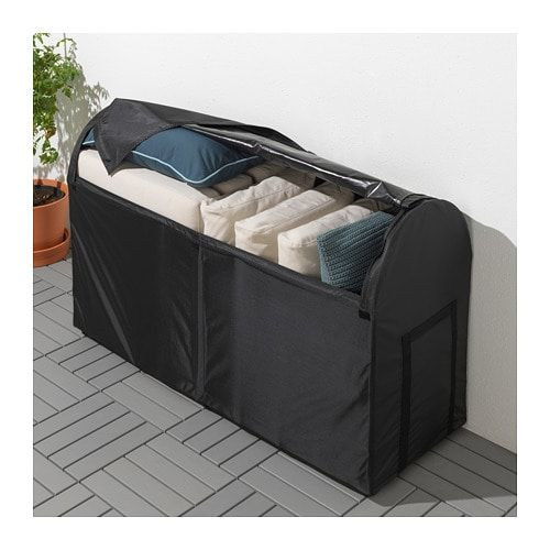 Tostero Storage Box Outdoor Black 50 3 4x17 3 8x31 1 8 Ikea In 2020 Outdoor Furniture Protection Outdoor Storage Boxes Beach Towel Storage