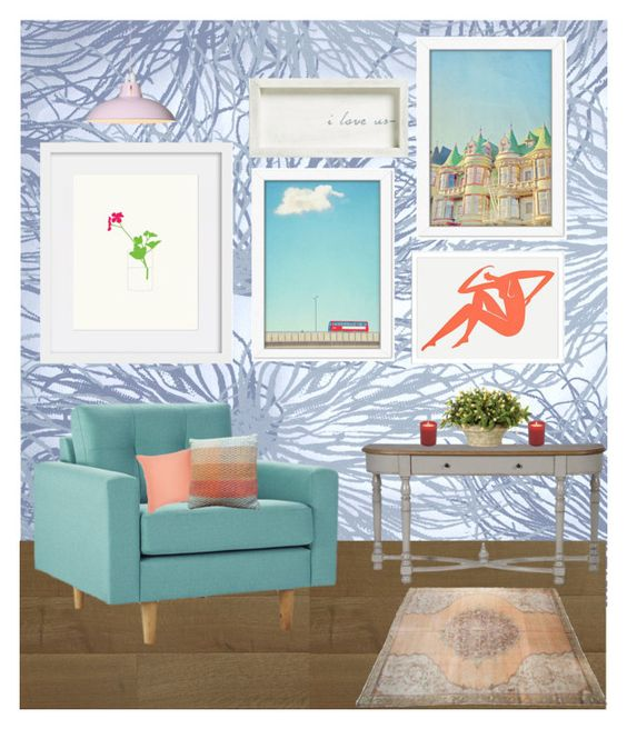 """""""Art and Chill x"""" by xhazeyx on Polyvore featuring interior, interiors, interior design, home, home decor, interior decorating, Jill Malek, Americanflat, Face to Face and OKA"""