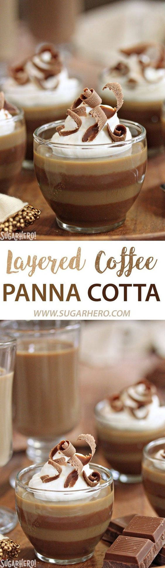 Layered Coffee Panna Cotta - an easy coffee dessert with gorgeous ...