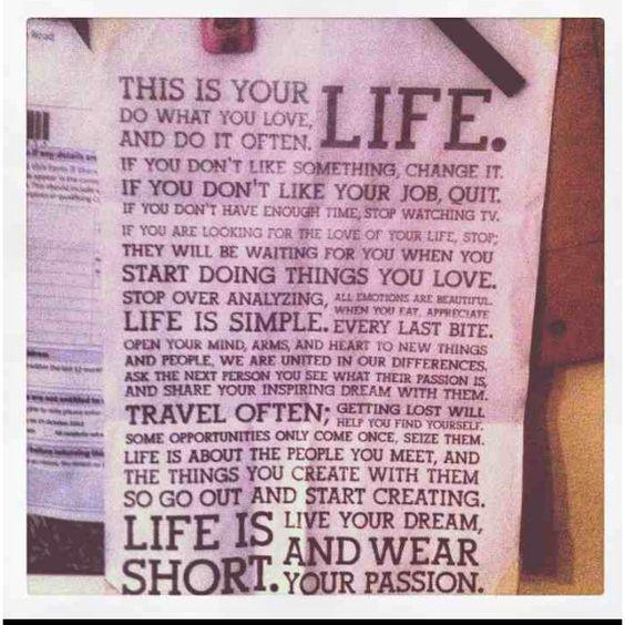Live, love, life
