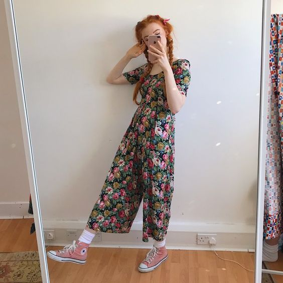 Dreamiest Spring like jumpsuit ever💕💐 soft cotton vintage - Depop