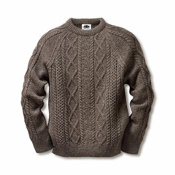 Black Sheep Aran-Pullover | Strickwaren