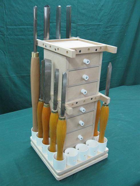 100- Lathe Tools Revolving Storage Tower
