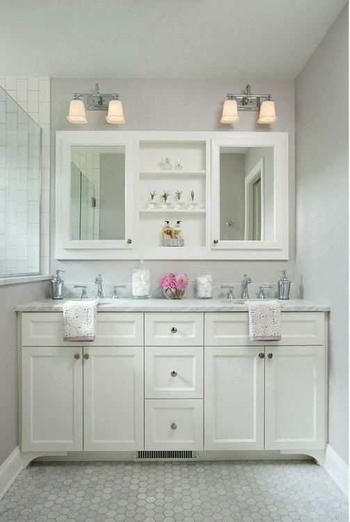 Double Sink Bathroom Vanity Decorating Ideas Inspirational Double Sink Bathroom Vanity Ideas In 2020 Bathrooms Remodel Small Bathroom Trendy Bathroom