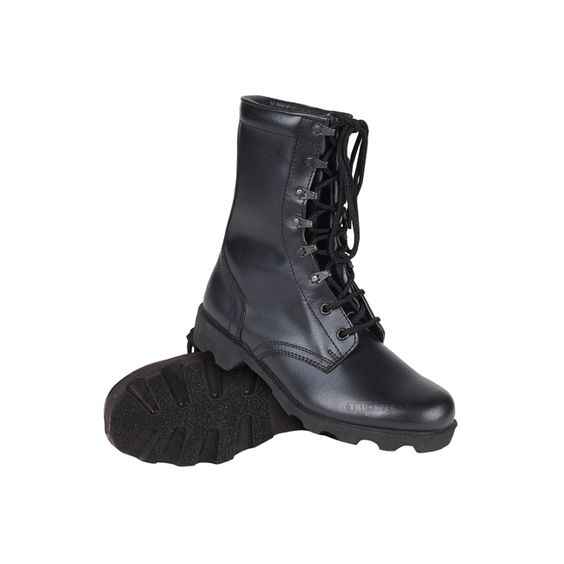 Black All Leather Combat Boot | Boots | Pinterest | Military ...