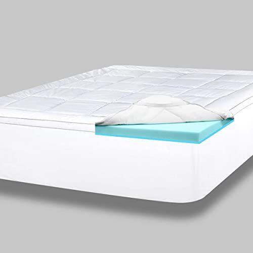 New Viscosoft 4 Inch Pillow Top Gel Memory Foam Mattress Topper King Serene Dual Layer Mattress Pad Online Lookpoppretty In 2020 Layered Mattress Memory Foam Mattress Topper Top Memory Foam Mattress