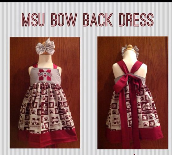 MSU Bulldogs Bow Back Dress by KrazyHeartStudios on Etsy, $48.00
