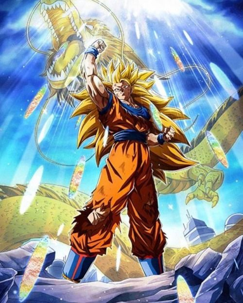 Dragon Ball Dokkan Art Goku Super Saiyan 3 Supersaiyan3 Dragon Ball Goku Anime Dragon Ball Super Dragon Ball