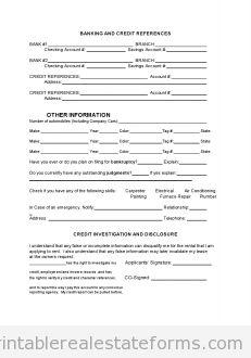 Sample Printable tenant rental application Form | Sample Real ...