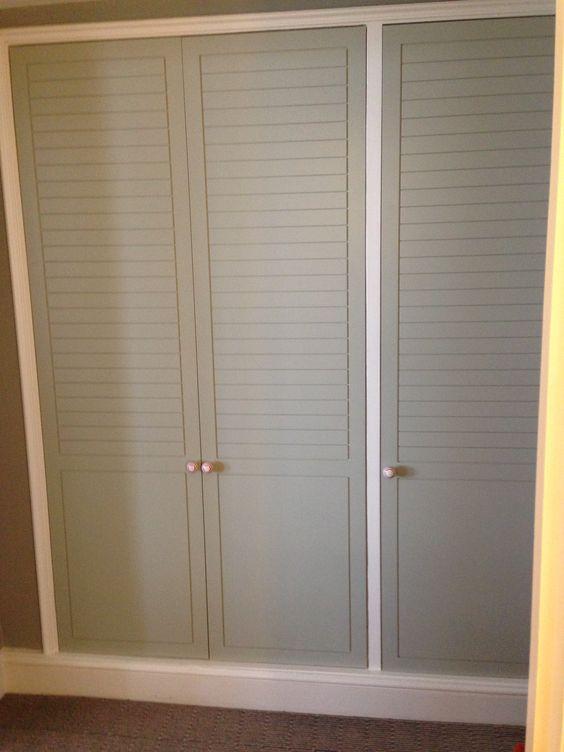 grey slatted built in wardrobes louvre doors pinterest. Black Bedroom Furniture Sets. Home Design Ideas