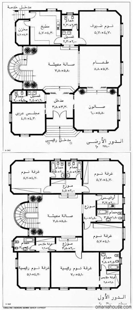 رسومات هندسية لمنازل مصرية Family House Plans My House Plans Model House Plan