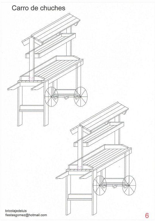 Despiece y montaje paso a paso del carrito de chuches for Como fabricar un kiosco de madera