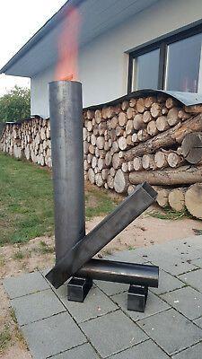 Raketenofen Rocket Stove Gartenofen Terassenofen Heizpilz 950 Mm
