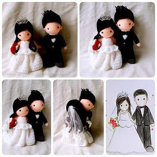 Amigurumi wedding dolls. (Made to order). Amigurumi ...