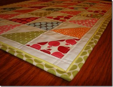 Cute way to bind a quilt by machine.