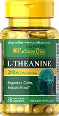 L-Theanine 200 mg A close relative of Glutamate, studies indicate that L-Theanine interacts with the neurotransmitter, GABA (gammaminobut...