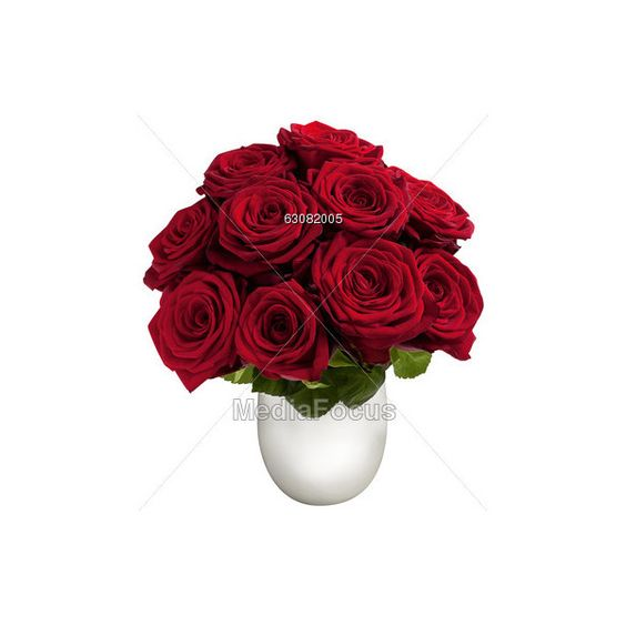 Red Roses In Vase ❤ liked on Polyvore