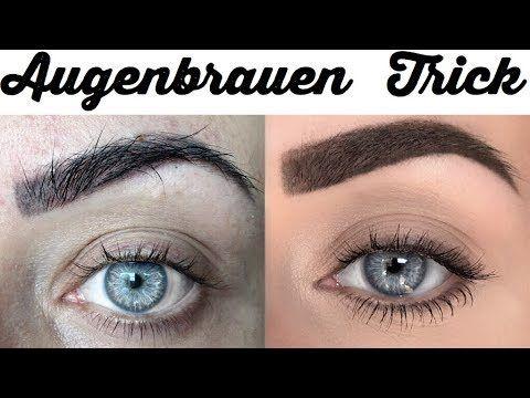Schone Augenbrauen Der Trick Augenbrauen