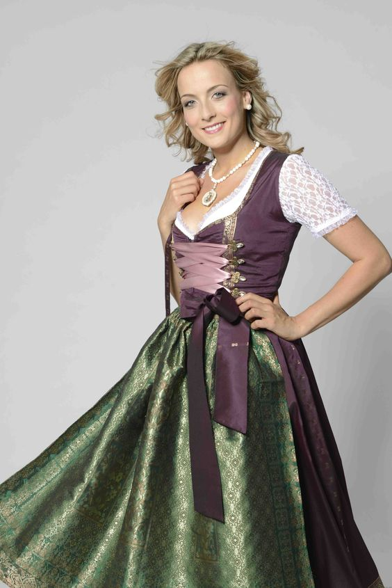 Purple and green dirndl