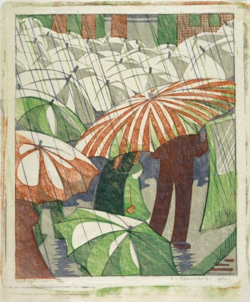 Ethel Spowers (Australia 1890–1947), Wet afternoon, 1929-30.