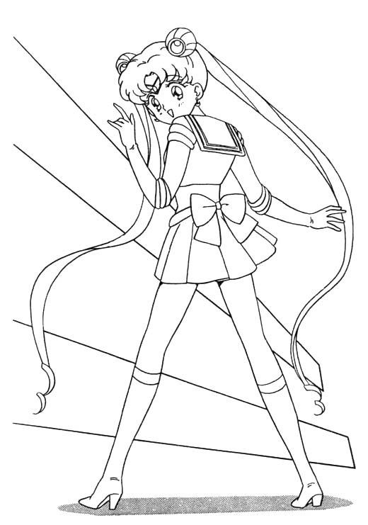 Sailor Moon Coloring Printables