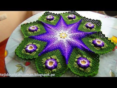 Tapete o Carpeta tejido a crochet paso a paso video 2 - YouTube