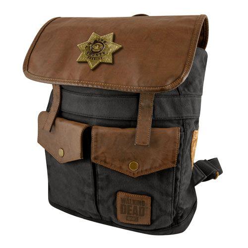 The Walking Dead Sheriff Rick Grime's Black Backback