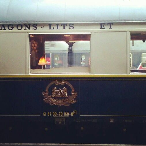 Heute Morgen beim Aussteigen aus meinem Zug: #Orient_Express #Gare_de_Lyon #Paris