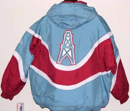 Vintage-90-039-s-Coleccionistas-Houston-Oilers-Apex-One-chaqueta-Blitz-Nuevo-Con-Etiquetas-Nuevo