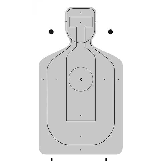 Alameda County Center mass CARDBOARD Target. Has slots cut on bottom