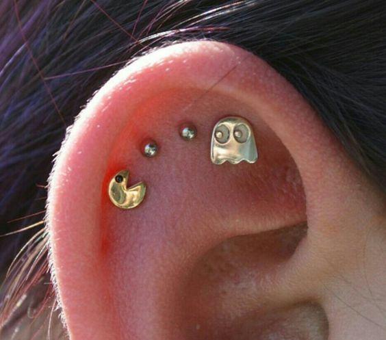 Pacman ear piercing plug love it