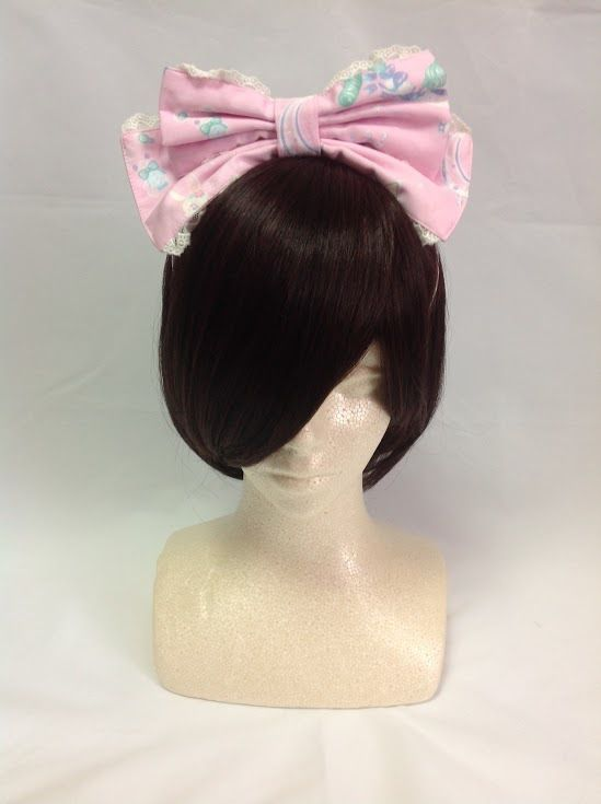 Candy Sprinkle Head Bow in Pink from Angelic Pretty - Lolita Desu