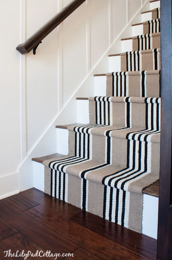Stair runner and Laminate floor staircase DIY | The Lilypad Cottage