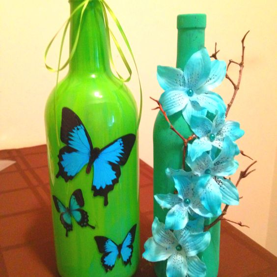 Wine bottles decor!